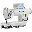 Computer-controlled Direct Drive Split Needle Bar Double Needle Lockstitch Sewing Machine